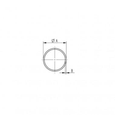 Tube rond inox | Ø 12 x 1,5 mm