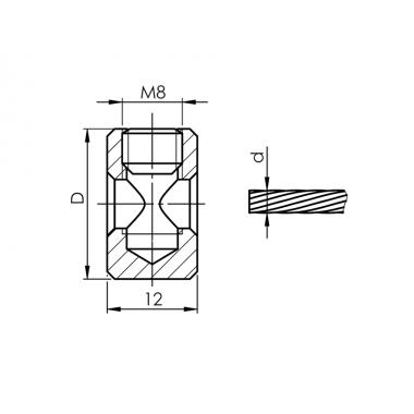 Serre câble Ø 3 à 6 mm