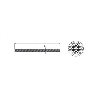Rouleau de câble inox Ø 3 à...