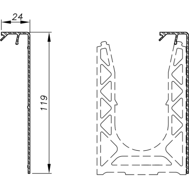Capot latéral - grand modèle